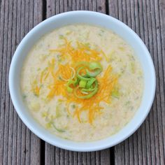 Healthy Comfort: Low-Cal Cheddar-Cauliflower Soup