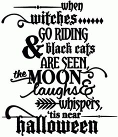 Silhouette Online Store: when witches go riding - vinyl phrase