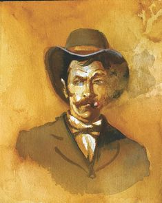 """Professional gambler Johnny Tyler was brought up in the Sacramento, California, area and was a major member of the West Coast cardsharps, aka """"Slopers,"""" who competed with the Easterners for control of the gambling tables in Tombstone. Doc Holliday, Old West, Blood, Old Things, Magazine, Green, Clothes, Outfits, Clothing"""