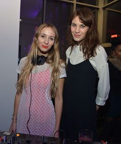 Alexa Chung and Harley Viera Newton attend The Armory Party at MOMA on March 6, 2013 in New York City.