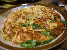 Fried eggs with Heeeeaps of basil - Real Recipes from Mums