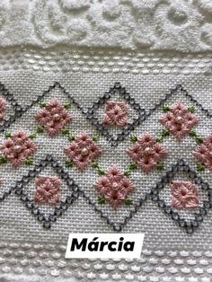 Hardanger Embroidery, Hand Embroidery Patterns, Embroidery Stitches, Sewing Stitches, Crochet Stitches, Lost Art, Needlework, Applique, Cross Stitch
