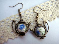 teapot earings