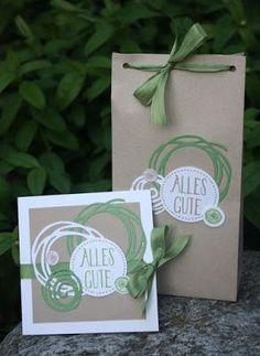 Zauberhaft-handgemacht, Swirly Bird, SU, Perfekt verpackt, Geburtstag, Punchboard für Geschenktüten