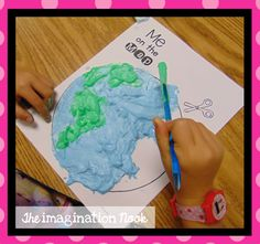Me on the Map - make your own puffy paint. Fun art project when studying map skills.