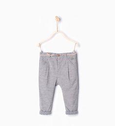 ZARA - ENFANTS - Pantalon en micro velours côtelé