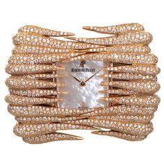 Audemars Piguet Lady's Rose Gold Diamond Set Givrine Wristwatch | 1stdibs.com