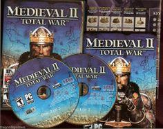 MEDIEVAL II TOTAL WAR GAME Used 2 PC XP 2000 Vista Windows 7 US 2 disc