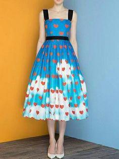 Choies Limited Sky Mood Midi Dress - Choies.com