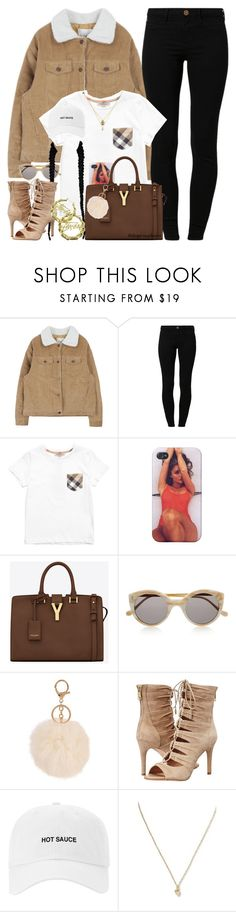 """""""I'm back!"""" by dope-madness ❤ liked on Polyvore featuring River Island, Burberry, Yves Saint Laurent, Illesteva, Joie, Stussy and Banana Republic"""