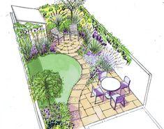 Back Garden Design, Garden Design Plans, Backyard Garden Design, Backyard Landscaping, Backyard Patio, Landscaping Design, Backyard Furniture, Backyard Designs, Patio Design