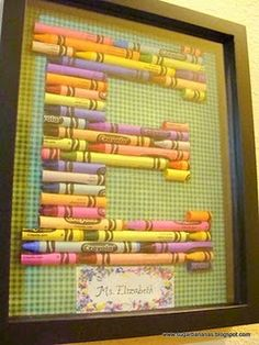 Great idea for kids rooms or play room or a teacher gift