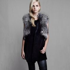 "Our best seller Nikki gilet is now a ""carry-over""! @josephfashion77 #instachic #luxury #fur #instamood #lillyevioletta"