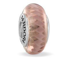 Pandora Pink Zig Zag Murano Glass Charm 790620
