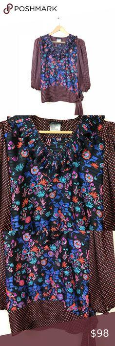 Spotted while shopping on Poshmark: Diane Freis Top Blouse Floral Peasant VTG Boho! #poshmark #fashion #shopping #style #Diane Freis #Tops