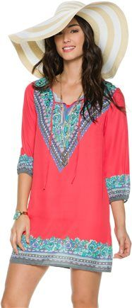 SWELL THE OUTSIDE PRINTED TUNIC Image