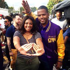 AJ from 106&&Park #HC2K14 #ColemanLove Black Fraternities, Delta Girl, Omega Psi Phi, Delta Sigma Theta, Alpha Kappa Alpha, Sorority And Fraternity, Black Couples, Greek Life, Black Is Beautiful
