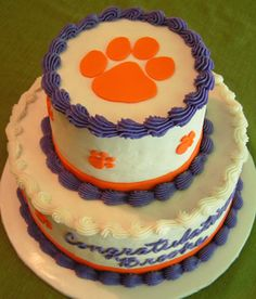 Clemson Party Party Ideas Pinterest Tigers Clemson Tigers - Clemson birthday cakes