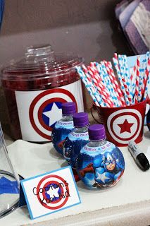 Captain America Birthday Party - let Beau Party helping you with everything you need to have for a superhero party !