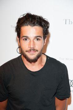 Christopher Abbott hair beard black shirt men tumblr style *Those eyes, tho!