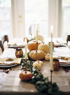 Holiday tablescape: http://www.stylemepretty.com/living/2016/11/21/5-steps-to-a-gorgeous-thanksgiving-tablescape/ Photography: Josh Deaton - http://www.josh-deaton.com/