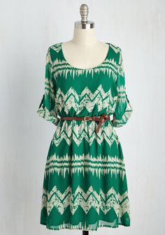 Mountain Dwelling Mini Dress in Green