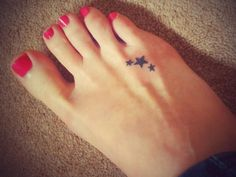 Tattoo with 3 stars, each one for the experiences in my life that changed me forever...Wish I had the guts to do it!