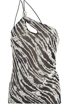 Giorgio Armani Embellished silk-chiffon top