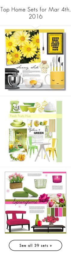 """Top Home Sets for Mar 4th, 2016"" by polyvore ❤ liked on Polyvore featuring interior, interiors, interior design, home, home decor, interior decorating, BIA Cordon Bleu, Villeroy & Boch, KitchenAid and Americanflat"