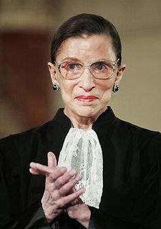 Supreme Court Justice Ruth Bader Ginsburg.  2005 by Ron Edmonds.