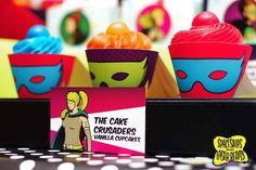 Superhero Birthday Cupcake Ideas {Boy Party} - Spaceships and Laser Beams