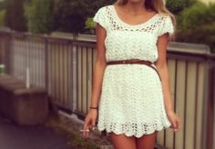 Summer Knit Dress - I'd love a pattern for something like this... anyone know of any?