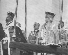 Queen Marie of Romania at her coronation in Alba Iulia.