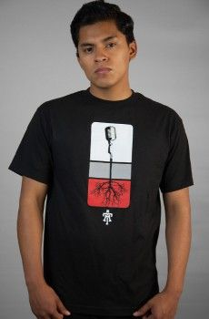 MIC ROOTS - WHITE, GRAY, RED (BLACK)
