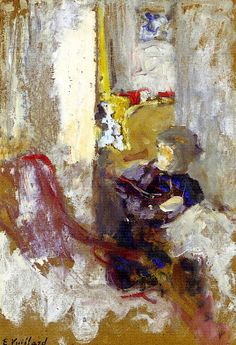 Sketch of Woman Sewing / Edouard Vuillard - 1902-1903