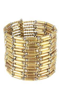 Gold Bamboo Cuff