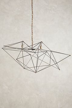 Iron Web Chandelier