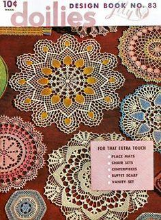 Doilies, placemats, chair sets, centerpieces, buffet scarf, vanity set Vintage Crochet Patterns Book for download