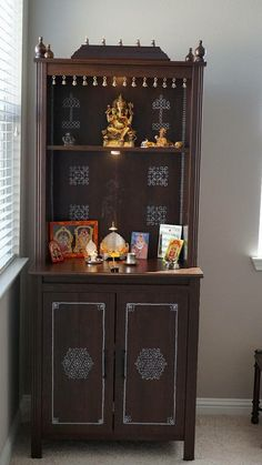 Reader's Gallery – The Experimental Baker HomeMaker Temple Design For Home, Home Temple, Mandir Design, Pooja Room Door Design, Living Room Tv Unit Designs, Puja Room, Prayer Room, Indian Home Decor, Room Doors