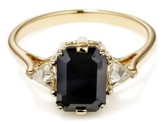 Unique Engagement Rings: Sapphire, Emerald, Ruby & More - iVillage. Not in obsidian though