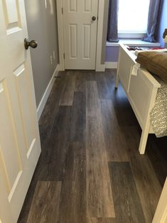"bedroom floor inspiration COREtec Plus 7"" - Alabaster Oak #COREtec #lvp #luxuryvinylplank"
