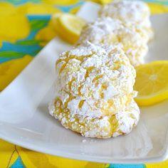 Lemon Low Fat Crinkle Cookies