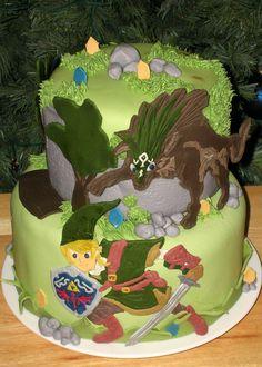 Zelda Twilight Princess Cake. Video Game Cake.