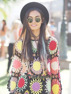"""And at long last, we learn the identity of dress girl -- she's Gizele Oliveira, a model (icymi, most Coachella """"best of"""" pics where you don't recognize the girl, she's still a model. Sigh.)"""