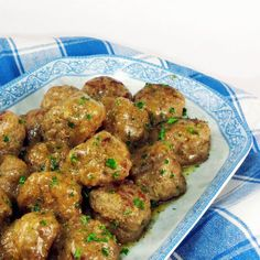 Spiced meatballs in sherry wine sauce, from One Perfect Bite.