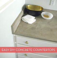 How To: Make Your Own DIY Concrete Countertops -- The Easy Way » Curbly | DIY Design Community