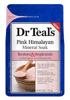 Dr. Teal's Restore & Replenish Pink Himalayan Mineral Soak & Foaming Bath