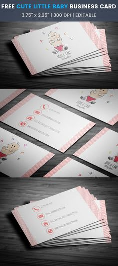 Cute Little Baby Business Card Template #cute #babysitter