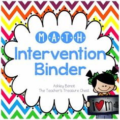 This binder was designed to help your Kindergarten and First Grade students with difficult math concepts. I created this for use in small group or one on one instruction. I will be adding to this binder throughout this year as it is a growing bundle.