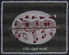 Ulla's Quilt World: Birds wall hanging quilt. free pattern and close up photos